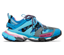 Track Sneakers aus Mesh und Gummi