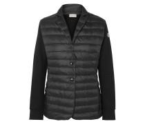 Jacke aus Baumwoll-jersey und Gestepptem Shell