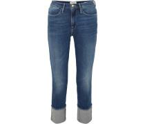 Le High Big Cuff Jeans mit Geradem Bein