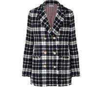 Karierter Tweed-blazer aus einer Wollmischung