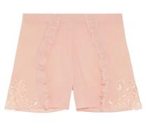 Quartz Garden Pyjama-shorts aus Crêpe De Chine aus Stretch-seide