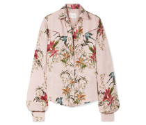 Azalea Bedrucktes Hemd aus Seiden-georgette