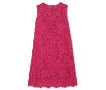 Minikleid aus Spitze aus einer Baumwollmischung