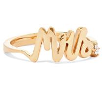 Mrs Ring aus 14 Karat  mit Einem Diamanten