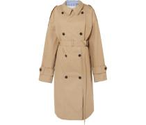 Oversized-trenchcoat aus Baumwoll-gabardine und Gestreifter Popeline