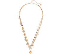 Mehrreihige Verete Kette mit Perlen