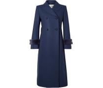 Mantel aus einer Wollmischung mit Faux Fur