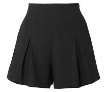 Shorts aus einer Leinenmischung mit Falten