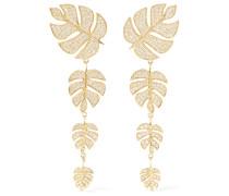 Monstera Leaf Ohrringe aus 14 Karat