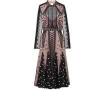 Storm Kleid aus Besticktem Tüll und Bedrucktem Georgette