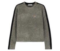 Teeny Bopper Pullover aus Strick in Metallic-optik