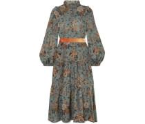 Clara Bedrucktes Midikleid aus Wolle
