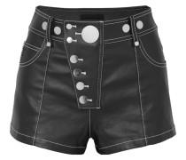 Verzierte Shorts aus Beschichtetem Denim