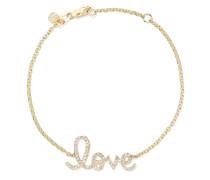 Love Medium Armband aus 14 Karat  mit Diamanten