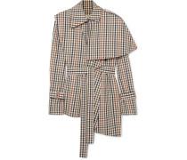 Mehrlagiges Kariertes Hemd aus Twill aus einer Baumwollmischung