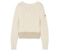 Zweifarbiger Pullover aus einer Alpakawollmischung