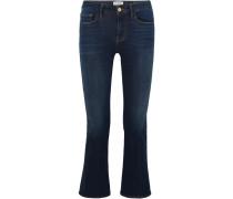 Le Crop Mini Halbhohe Bootcut-jeans