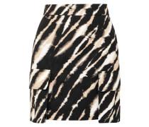 Minirock aus Baumwoll-canvas mit Zebraprint