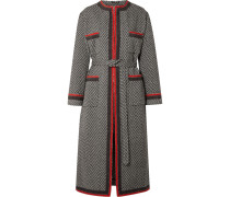 Mantel aus Bouclé aus einer Wollmischung