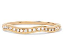 Kintsugi Line Ring aus  mit Diamanten