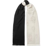Schal aus Woll-jacquard mit Farbverlauf