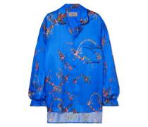 Asymmetrisches Oversized-hemd aus Satin