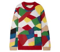 Strickpullover in Colour-block-optik