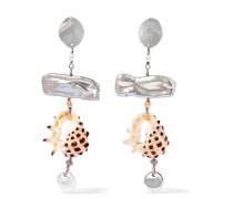 Ohrringe aus Sterling mit Perlen und Muscheln