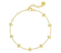 Mini Parashri Armband aus 18 Karat , Emaille und Diamanten