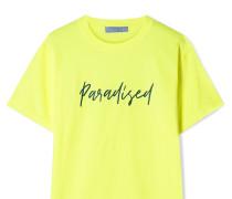 T-shirt aus Neonfarbenem Baumwoll-jersey