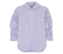 Geraffte Bluse aus Popeline