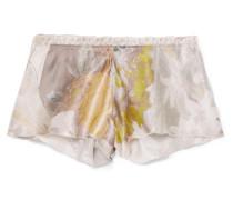 Flottant Shorts aus Floral Bedrucktem Seidensatin