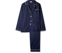 Bishop Pyjama aus Baumwollpopeline