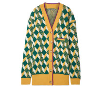 Woll-cardigan in Oversized-passform