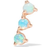 Three Step Ohrring aus 14 Karat  mit Opalen