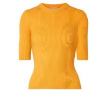 Gerippter Pullover aus einer Kaschmirmischung