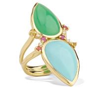 Prisma Ring aus 18 Karat  mit Mehreren Steinen