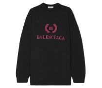 Besticktes Sweatshirt aus einer Woll-kaschmirmischung
