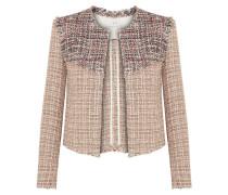 Walefa Jacke aus Tweed aus einer Baumwollmischung