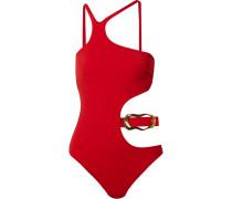 Sierah Badeanzug mit Cut-outs und Verzierung