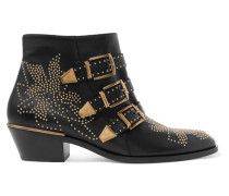 Susanna Ankle Boots aus Leder mit Nieten