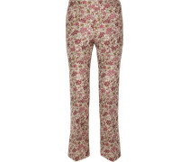 Hose mit Geradem Bein aus Floralem Jacquard