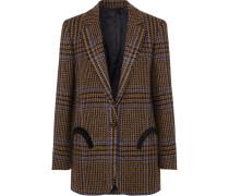 Cariba Weekend Blazer aus Kariertem Tweed aus einer Wollmischung