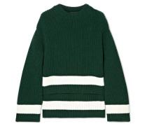 Pullover aus einer Gerippten Woll-kaschmirmischung