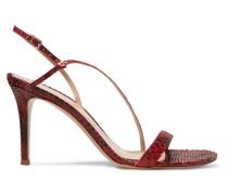 85 Slingback-sandalen aus Pythonleder