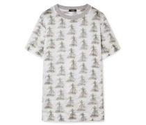 Bedrucktes T-shirt aus Baumwoll-gaze