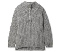 The Jo Pullover aus einer Gerippten Baumwoll-alpakawollmischung