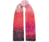 Bedruckter Schal aus Chiffon mit Farbverlauf
