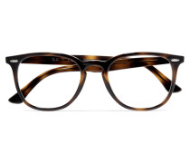 Brille mit Rundem Rahmen aus Azetat in optik