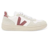 V-10 Sneakers aus Leder, Mesh und Veloursleder